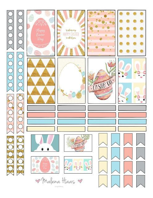 graphic regarding Happy Planner Free Printable Stickers known as Absolutely free Printable Easter Stickers for your Planner