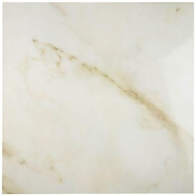 Merola Tile Calacatta White 19-3/4 in. x 19-3/4 in. Porcelain Floor and Wall…