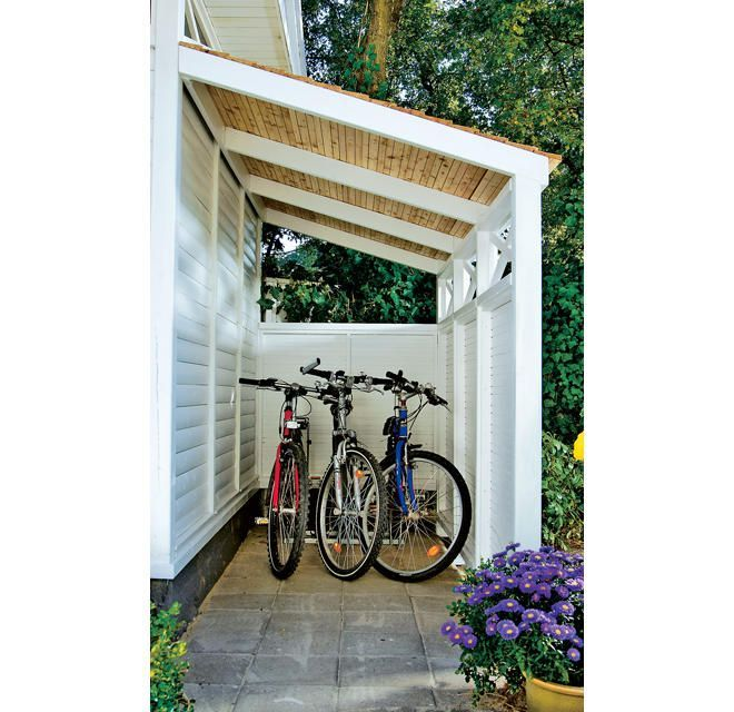 Fahrradunterstand Pin Blog Shed Homes Pergola Garden Shed