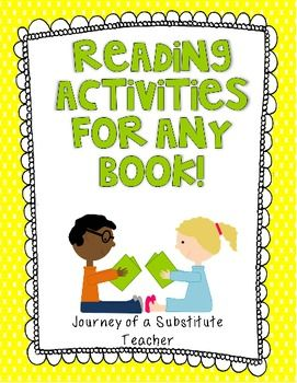 7 best substitute teaching images on pinterest school substitute reading activities for any book fandeluxe Gallery