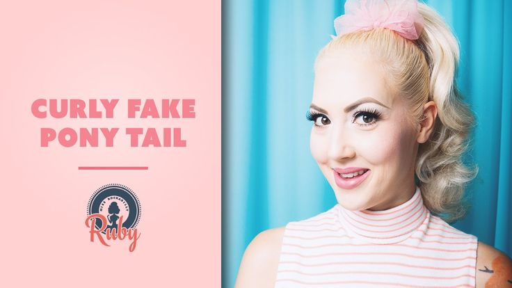 Miss Rockabilly Ruby - Fake Curly Pony Tail