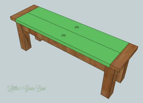 These Step By DIY Dining Bench Plans From Little Green Bow Will Show You How To Build Your Own Pottery Board Inspired For Table
