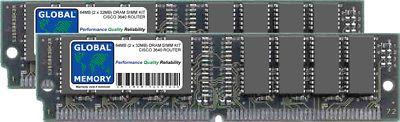 64MB (2 x 32MB) DRAM SIMM MEMORY KIT FOR CISCO 3640 ROUTER ( MEM3640-64D )