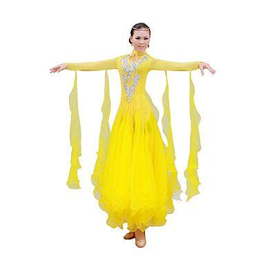 Ballroom Dancewear Women's Spandex Sequined Ballroom Dance Outfits (More Colors) – USD $ 96.99