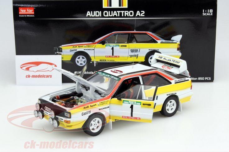 Audi Quattro A2, Winner Rally de Portugal 1984, No.1, H.Mikkola / A.Hertz. Sun Star Models, 1/18, Limited Edition 850 pcs. Price (2016): 75 EUR.