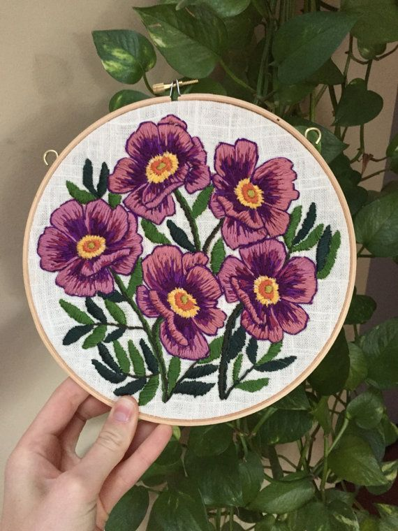 Aro del botánico púrpura por TessaPerlowInc en Etsy