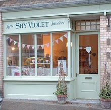 Who can resist our own Shy Violet in Dorset with her beautiful shop that was  nominated for the Country Living Best shop front!  Suzanne runs Furniture Painting workshops and has a monthly market on the side of her shop too where all sort of local and vintage pieces can be bought including music memorabilia - that's her husband's department.