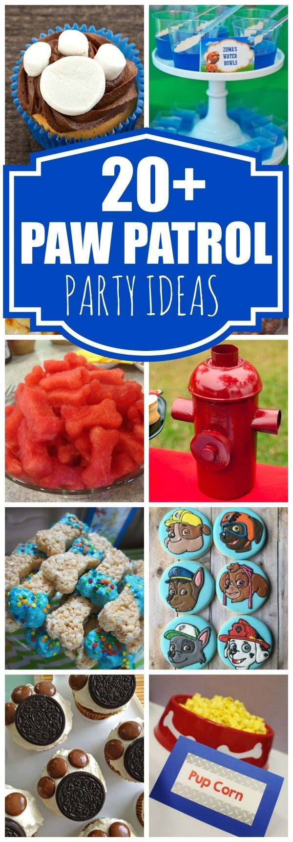 20 Awesome Paw Patrol Party Ideas on prettymyparty.com.                                                                                                                                                                                 More