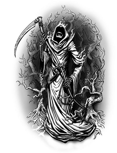 Grim Reaper Tattoo Designs Tats Pinterest