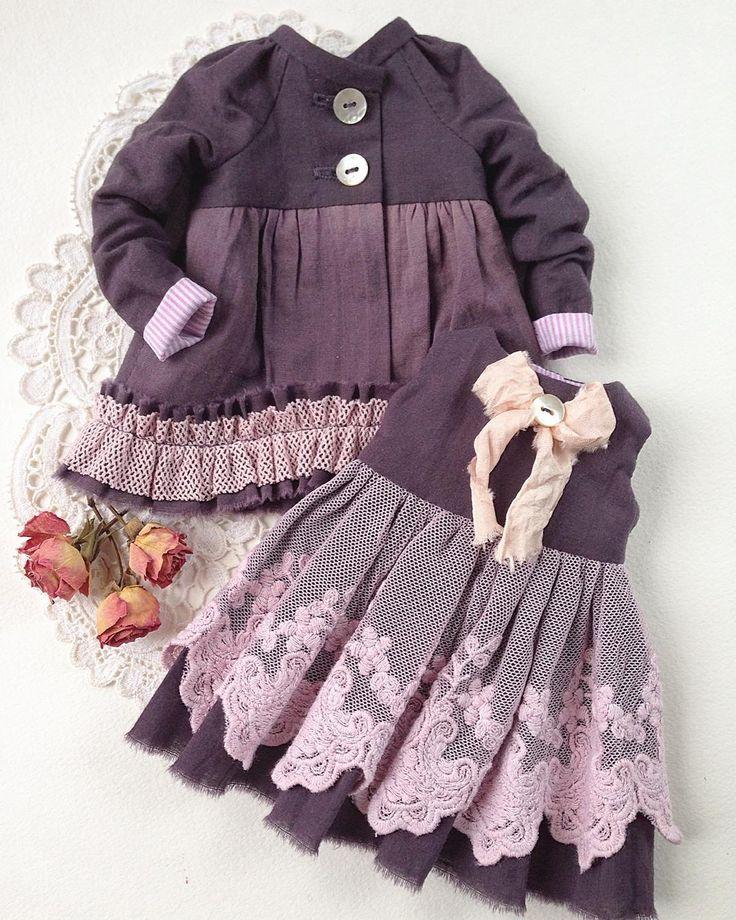 Сделано на заказ. #одеждадлякукол #платье #платьедлякуклы #комплектодежды #нарядныеплатья #кружево #шью #шьюсама #люблюшить #сиреневый #модно #стильно #кукла