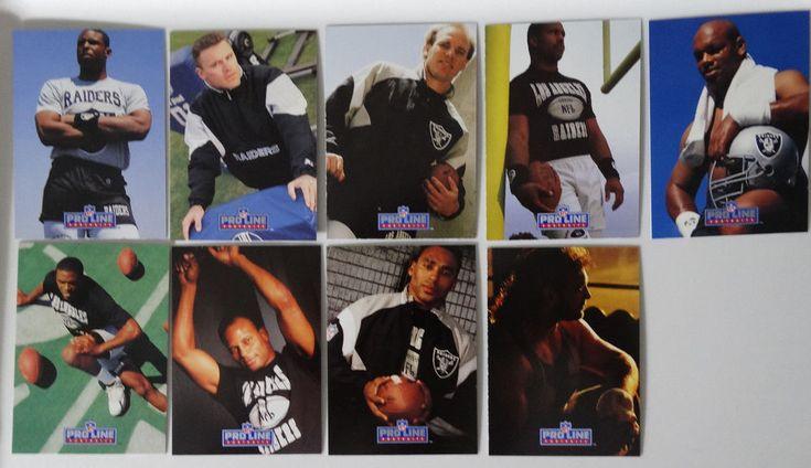 1991 Pro Line Portraits Los Angeles Raiders Team Set of 9 Football Cards No 190 #LosAngelesRaiders