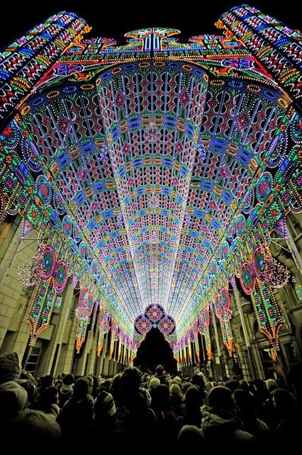 Festival of Lights - Ghent, Belgium. So beautiful! http://www.besteno.com/questions/where-is-the-best-place-to-go-sight-seeing-in-belgium