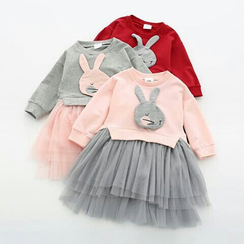 tulle skirt + bunny applique