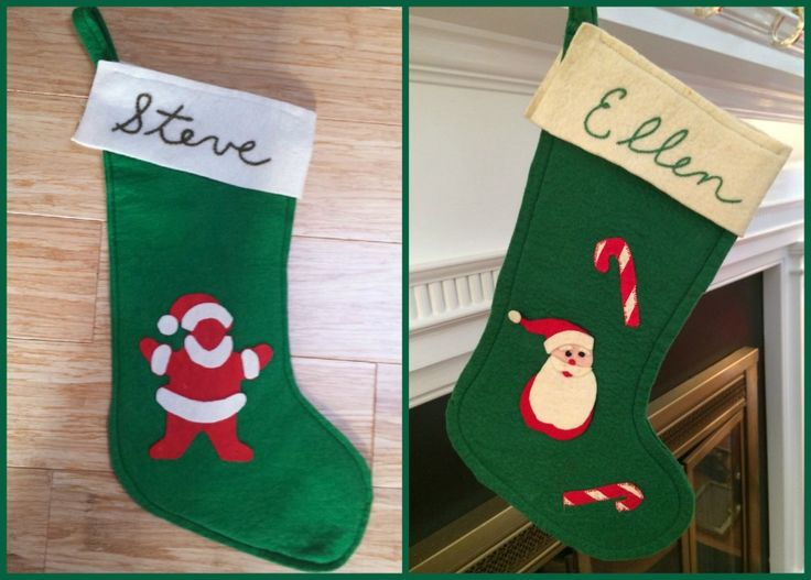Ellen and Steve's stocking Collage via The Gracious Posse