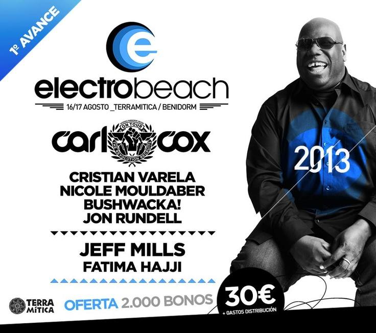 Primer adelanto Cartel electroBeach 2013