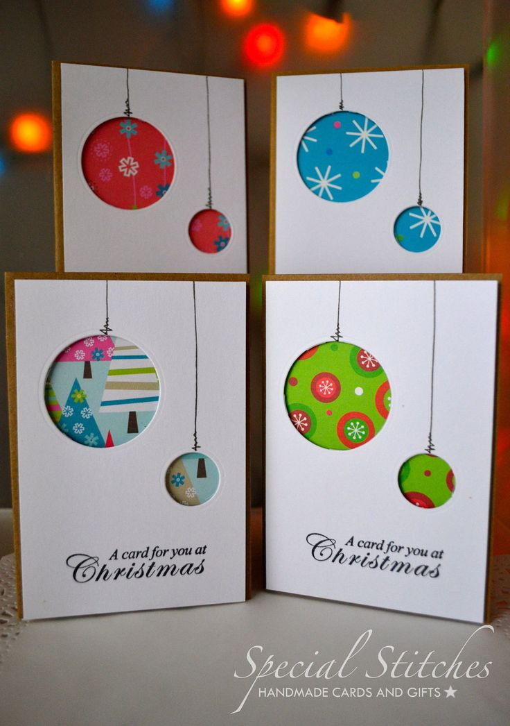Christmas Cards, Pack of 20 Handmade Aperture Christmas cards