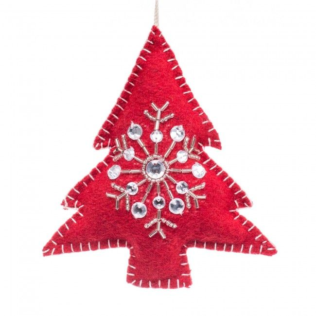Decorate your Christmas tree in style with a classic felt ornaments. Perfect for anyone who loves the traditional look around the holidays.