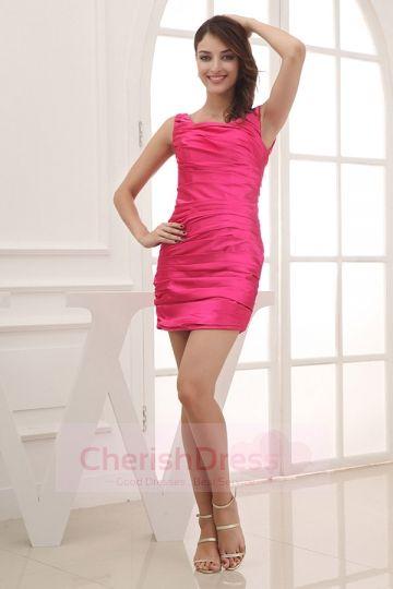 Sweet Jewel Straps Pleats Mini/Short Dress