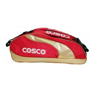 COSCO GRANDSLAM RACKET BAG Twin zip racket bag made from imported tetron, Made from premium quality material, Manufactured by a reputed, world class brand, Durable and easy to use and long lasting available on damroobox website.