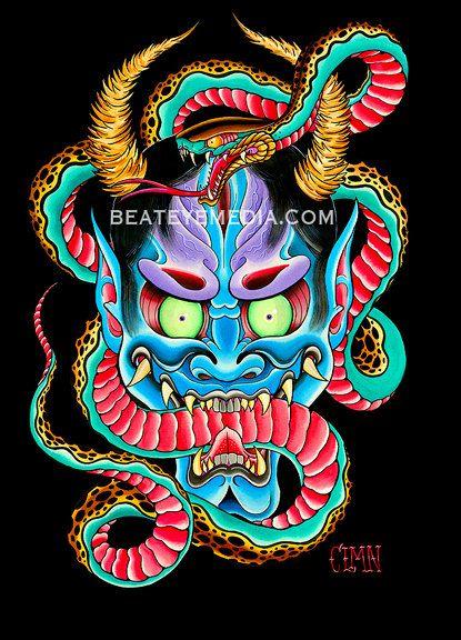 Aarón Coleman tatuaje etiqueta engomada monstruo
