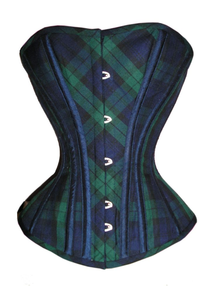 My tartan (black watch) as a corset.  I must have one!