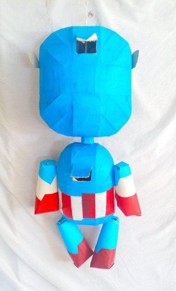 Piñata de títeres inspirado en el Capitán América  Miembros