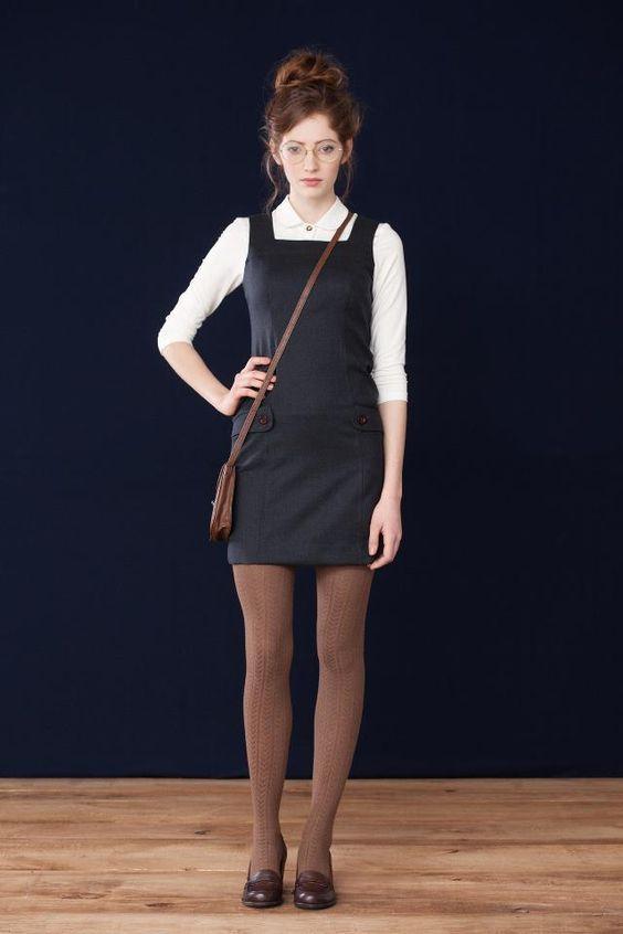Outfits de niña bien que puedes conseguir con un vestido tipo overol ... 2fde09122a1