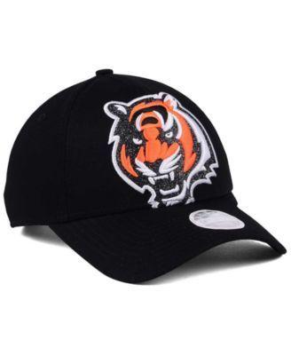 New Era Women's Cincinnati Bengals Glitter Glam 9TWENTY Strapback Cap - Black Adjustable