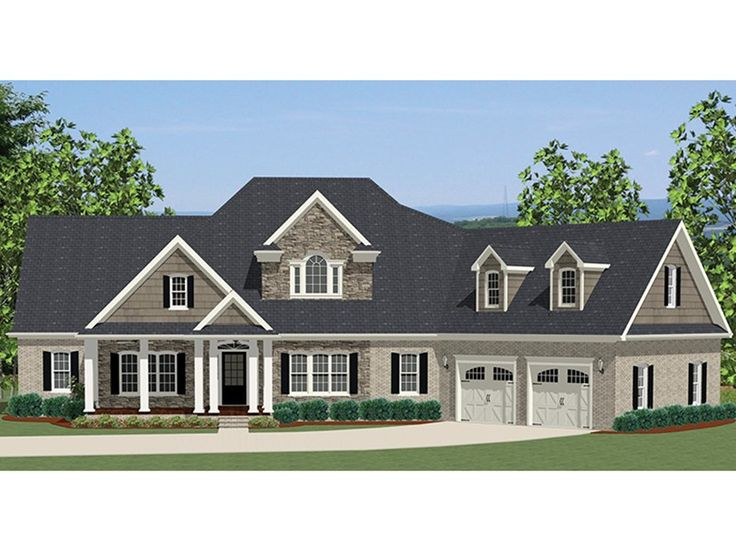 Craftsman Style House Plan with 2549 Square Feet and 3 Bedrooms from Dream Home Source | House Plan Code DHSW077158