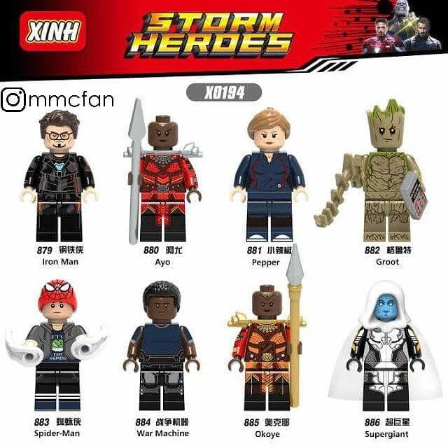 Avengers Thor Doctor Strange Heroes Building Blocks Mini action figure toys