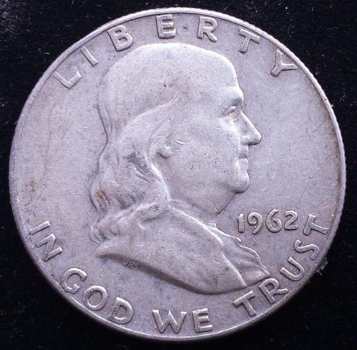 1962 Denver Mint Silver Franklin Half Dollar Liberty Bell
