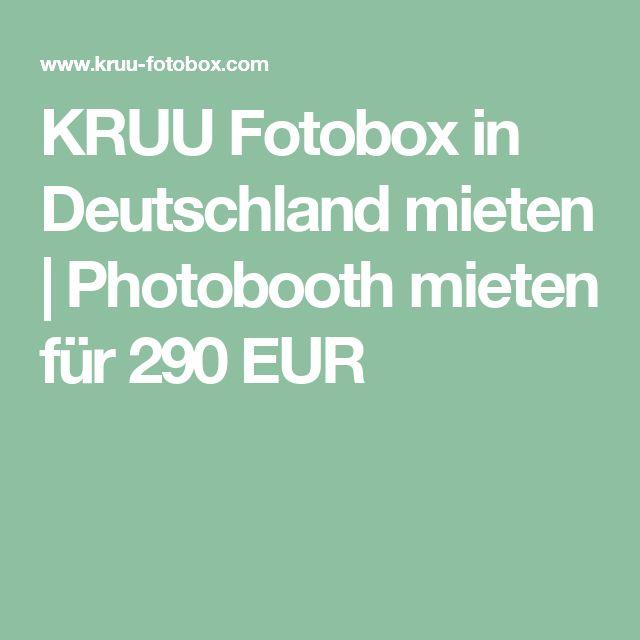 KRUU Fotobox in Deutschland mieten | Photobooth mieten für 290 EUR