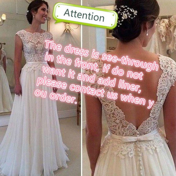 2017 Hot Sprzedaży Custom Made Linii Suknie Ślubne Vestido de Noiva Casamento Szyfonu Koronka przepuszczalność Backless Robe De Mariage
