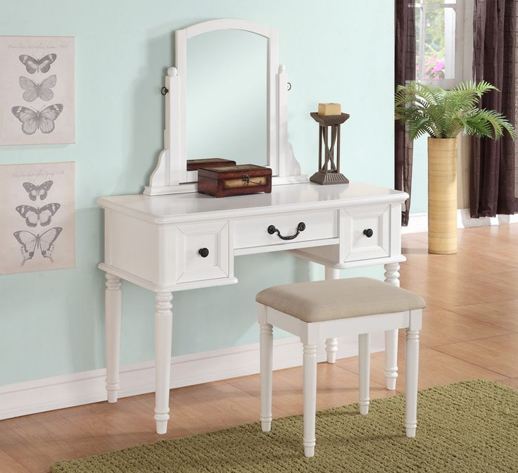 OC Furniture Poundex F4106 Giselle White