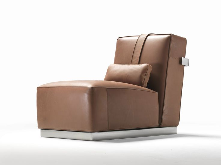 Upholstered Leather Armchair A.B.C.D By FLEXFORM Design Antonio Citterio