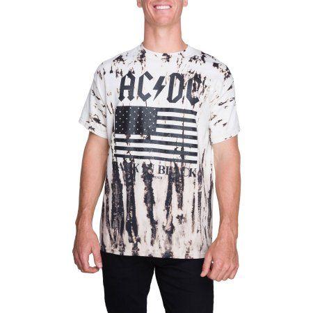 Big Men's Short Sleeve Acdc Tie Dye Graphic T-shirt, Size: 2XL