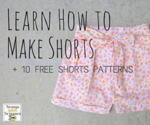 It's almost summertime, and you know what that means, Sewists: shorts! Pulling your favorite pair of cut offs  out of your drawers after a long winter can be...scary...to say the least, though. This is especially true of your kid's shorts because