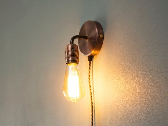 Plug In Wall Light Sconce Includes E27 Lamp Holder Free Uk P P Plug In Wall Lights Wall Lights Wall Sconce Lighting