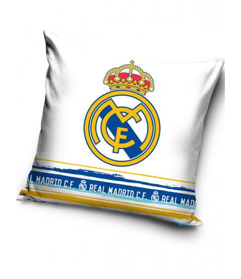 This Real Madrid CF White Filled Cushion makes a great addition to any fan's bedroom or as an accompaniment to your Real duvet cover. Free UK delivery available.