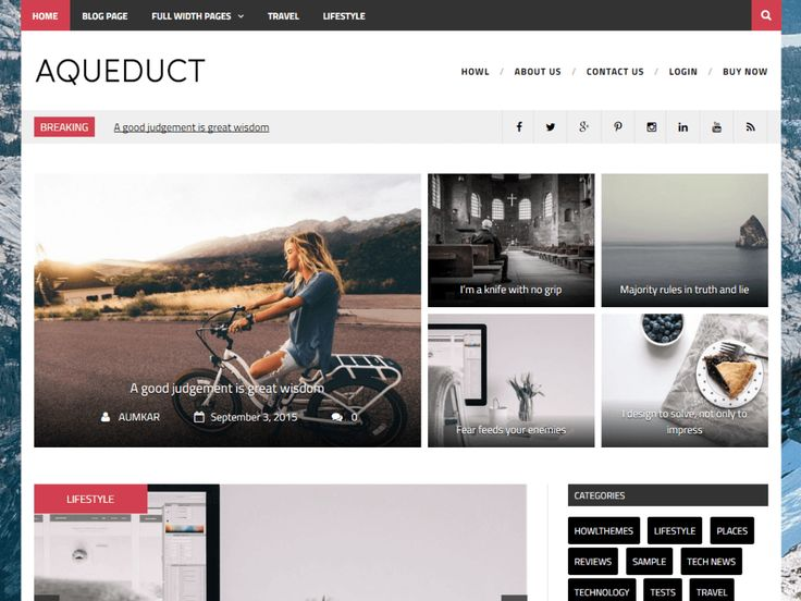Aqueduct — Free WordPress Themes