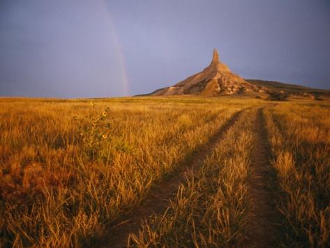 Oregon Trail wagon ruts - Nebraska