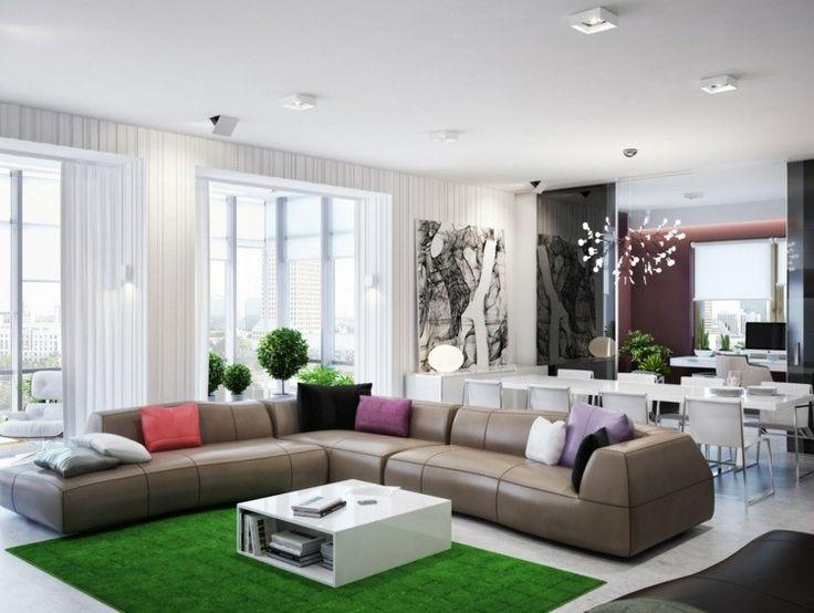 Die besten 25+ Green l shaped sofas Ideen auf Pinterest Blaue l - wohnzimmer sofa stellen
