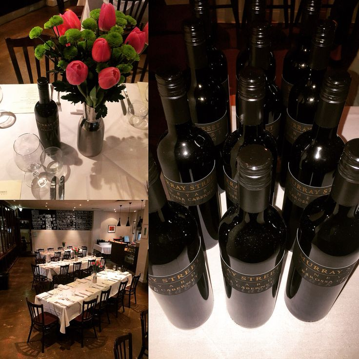 Set up and ready to go at the Pranzo MSV Wine Dinner. @msvwine #restaurantaustralia