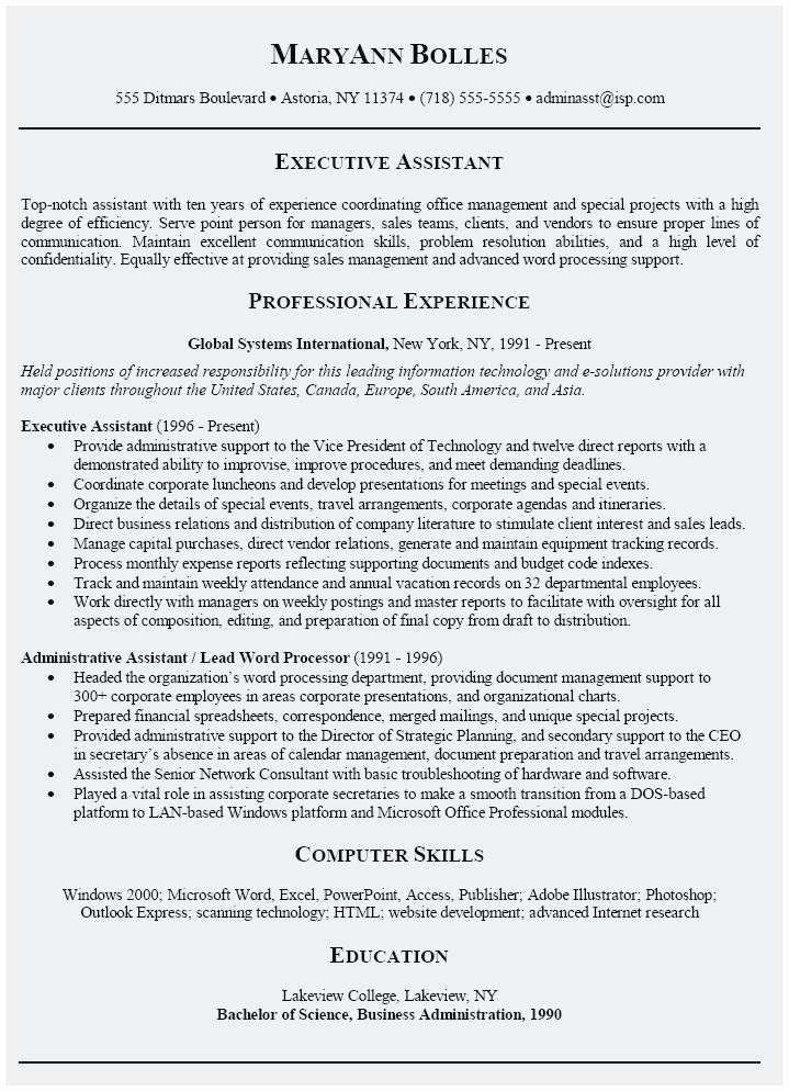 Executive Assistant Cover Letter Samples Cover Letter For Resume