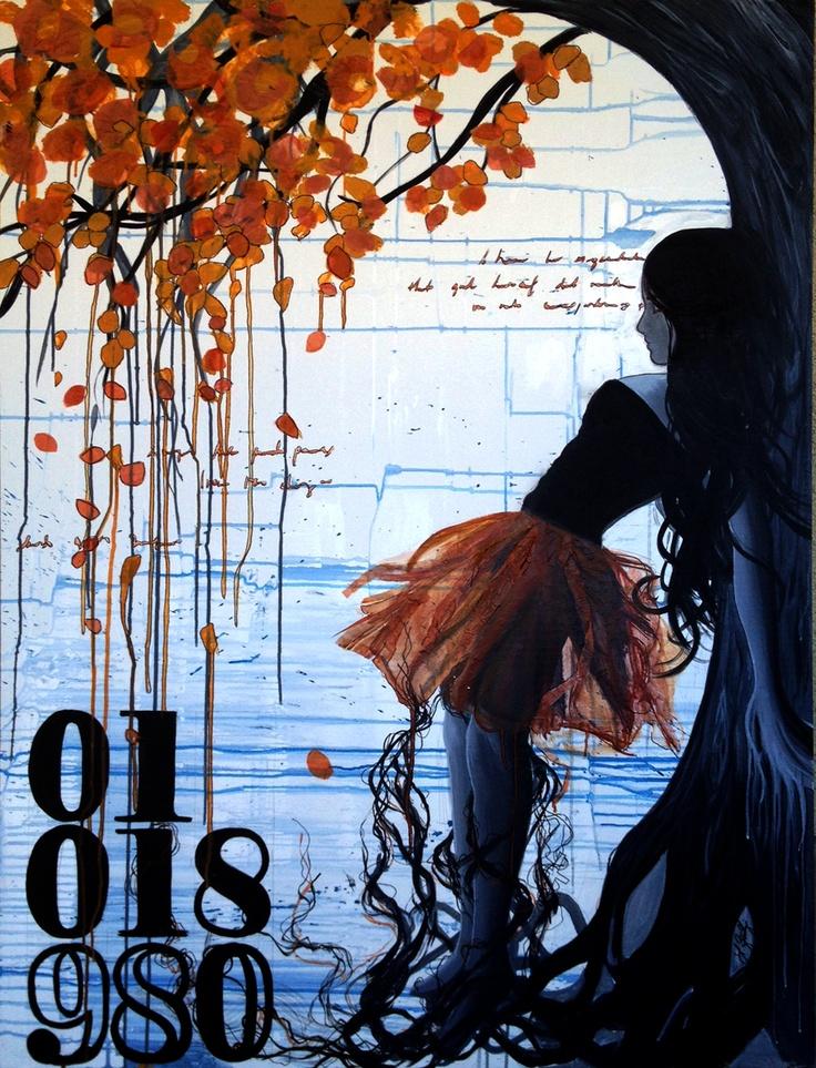 "Autumn Introspective  acrylic on canvas  30 x 40 ""  loriglbertfinearts.com"