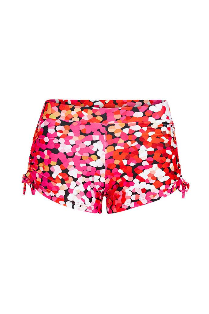 Pink Confetti Printed Shorts – Dharma Bums Yoga and Activewear