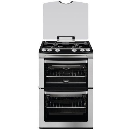 Zanussi ZCG669GX 600mm Double Gas Cooker FSD Hob Lid Stainless Steel http://www.MightGet.com/january-2017-13/zanussi-zcg669gx.asp