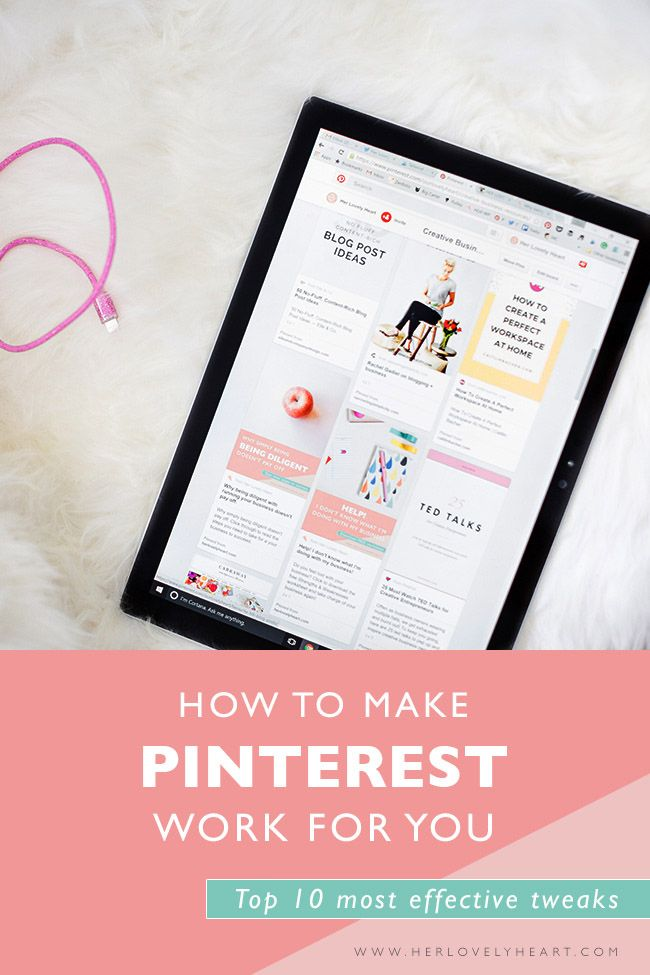 How to make Pinterest work for you & your business. One size does NOT fit all. Click through to read our top 10 most effective tweaks!