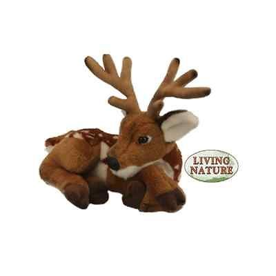 Living Nature Deer With Antlers Novelty Soft Cuddly Toy Stocking Filler 28cm