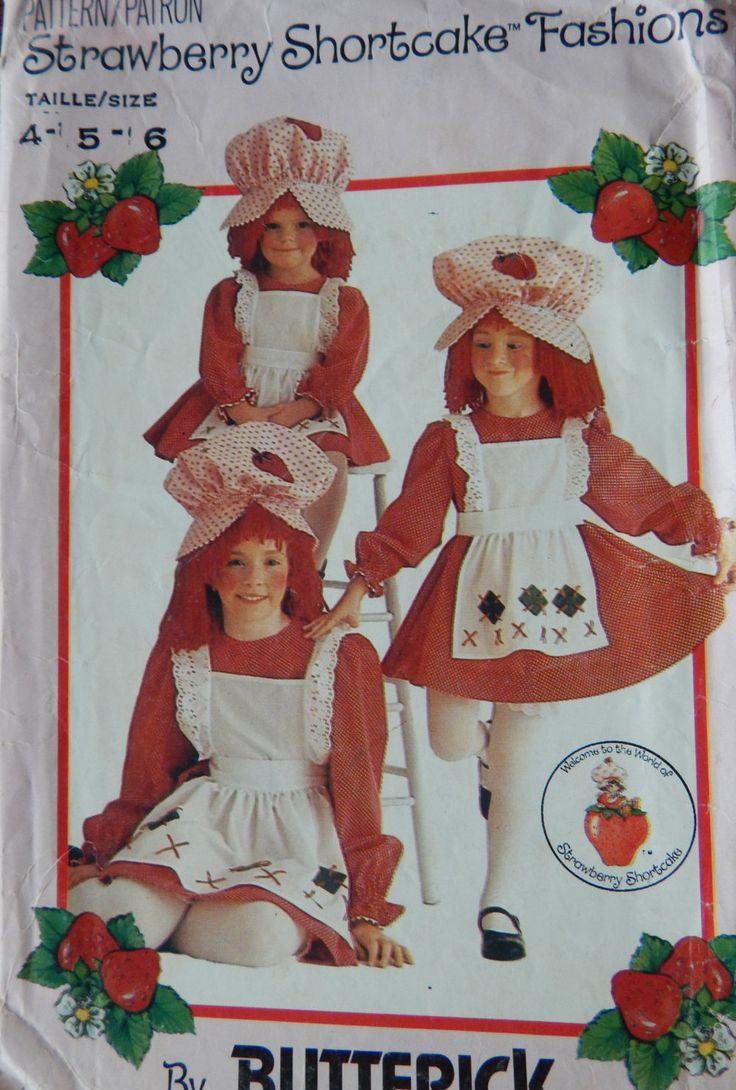 Strawberry Shortcake Costume Sewing Pattern/ Butterick 6139/ Girls' Childs Size…